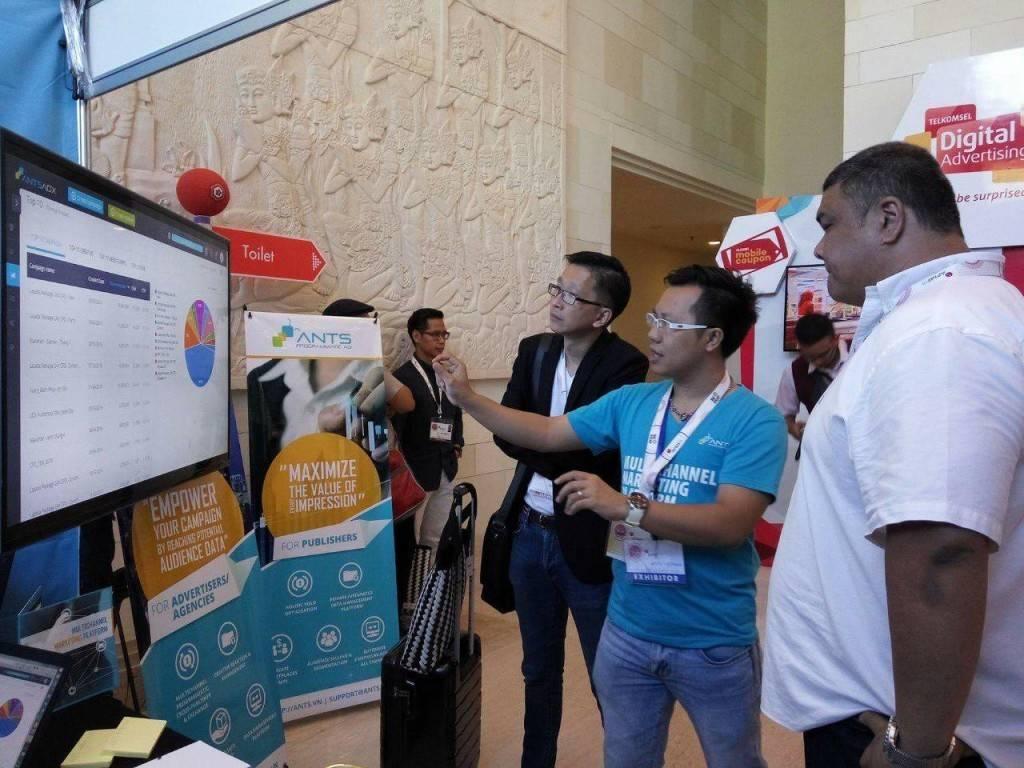 Gian hàng công nghệ ANTS Programmatic Ad tại Asia Pacific Media Forum 2016, Bali, Indonesia