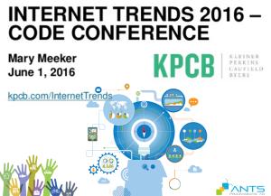 ANTS - Internet Trends 2016 - KPCB
